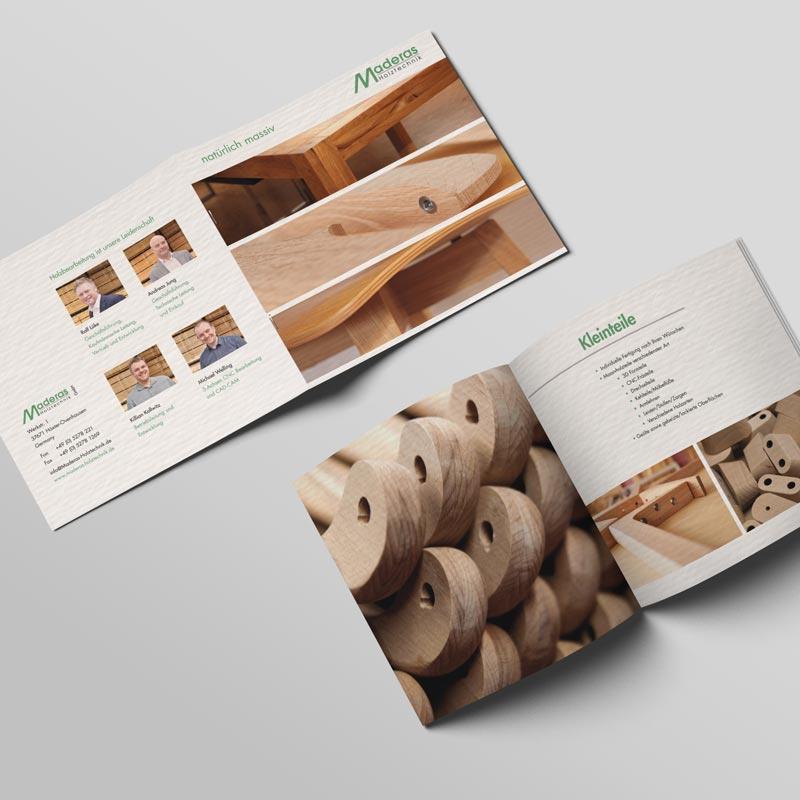 Broschüre von Maderas Holztechnik