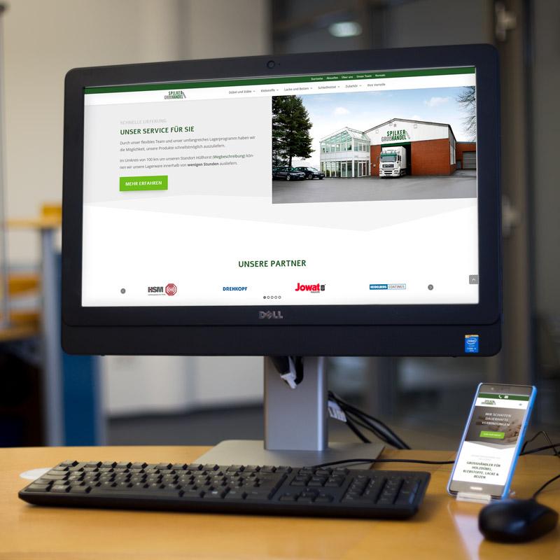 Website von Spilker Holzhandel