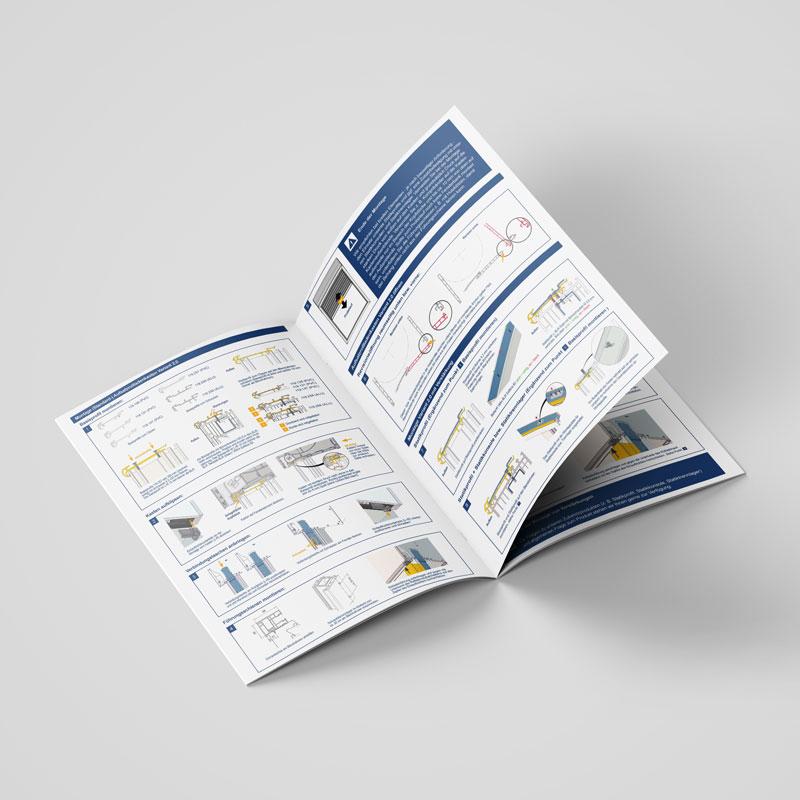Mockup der Montageanleitung für ein Produkt der Bornemann Rollladen und Sonnenschutz GmbH & Co. KG